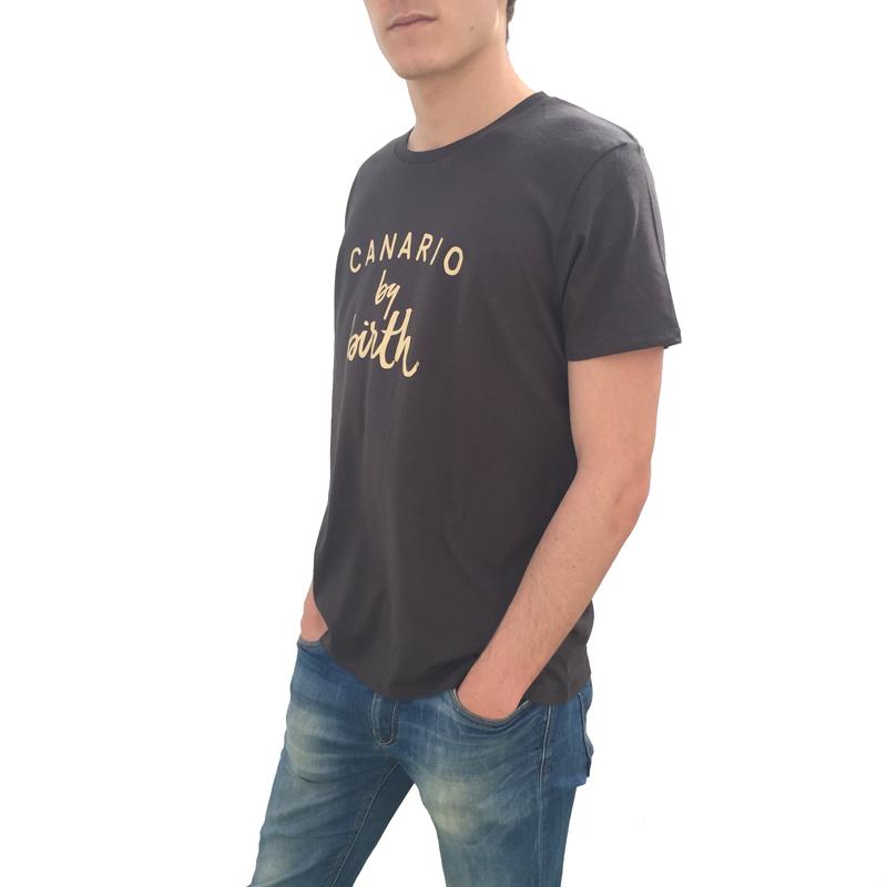 Canario by birth Beig Lateral Camiseta Hombre