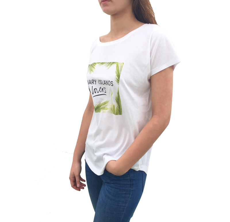 Canary Islands lovers lateral mujer camiseta