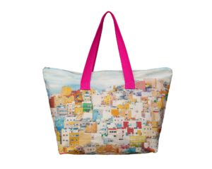 Casas de colores de San Juan frontal weekendbag