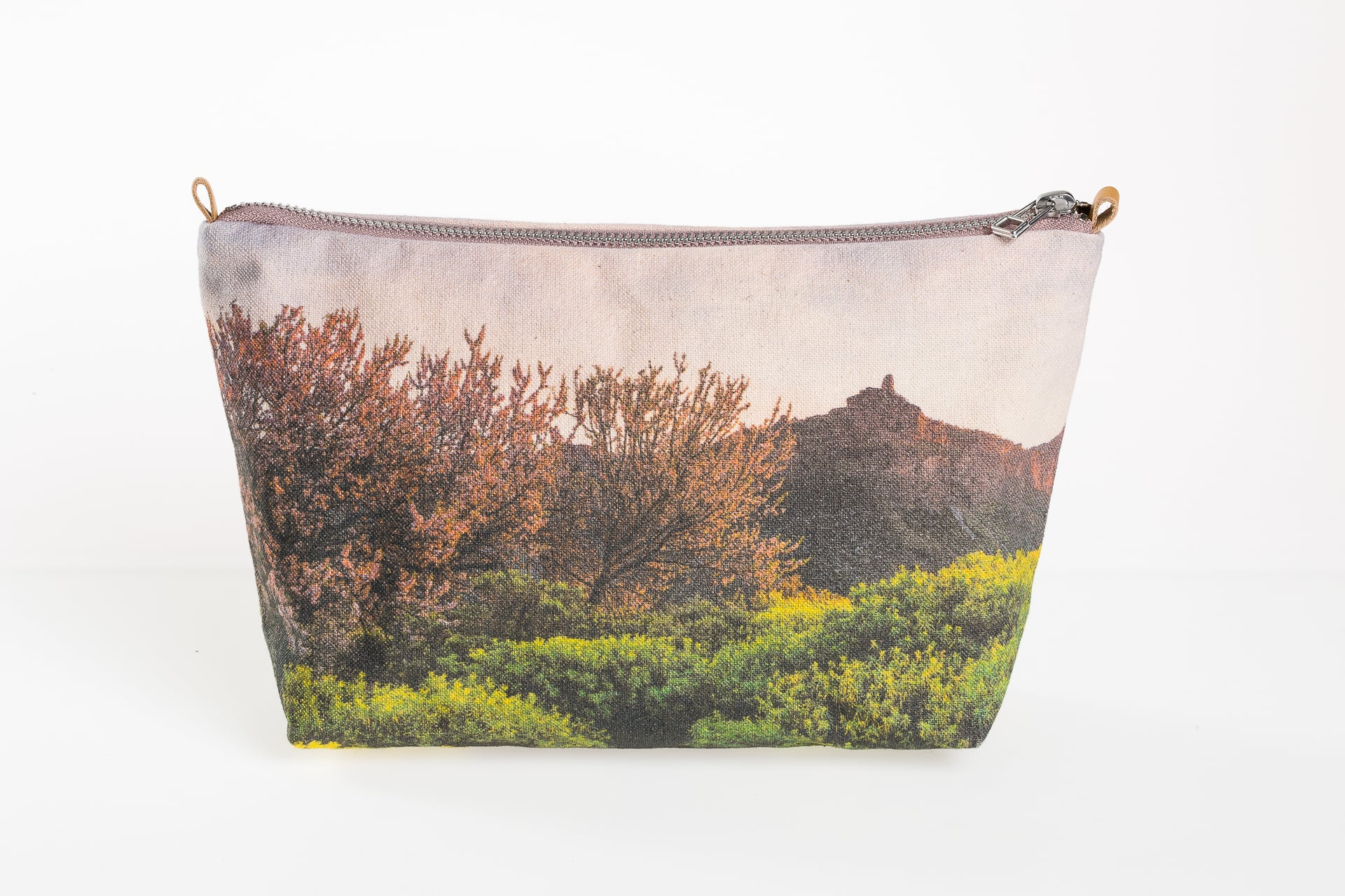Almond blossoms in el Roque Nublo front minipouch
