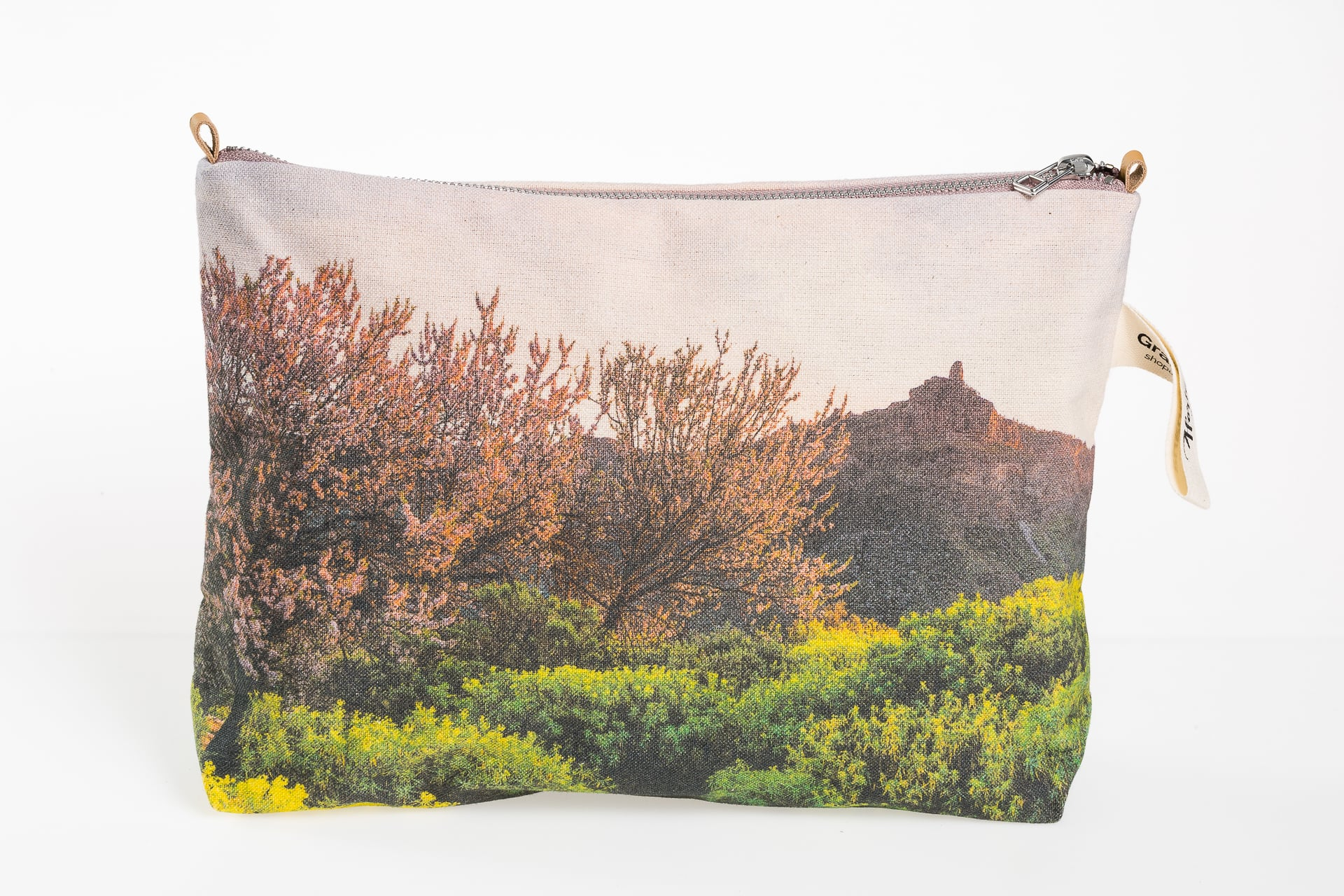 Almond bossoms in el Roque Nublo front pouch