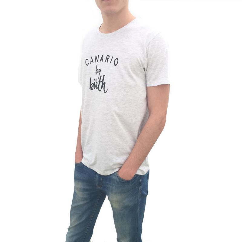 Canario by birth Negro Espalda Camiseta Hombre