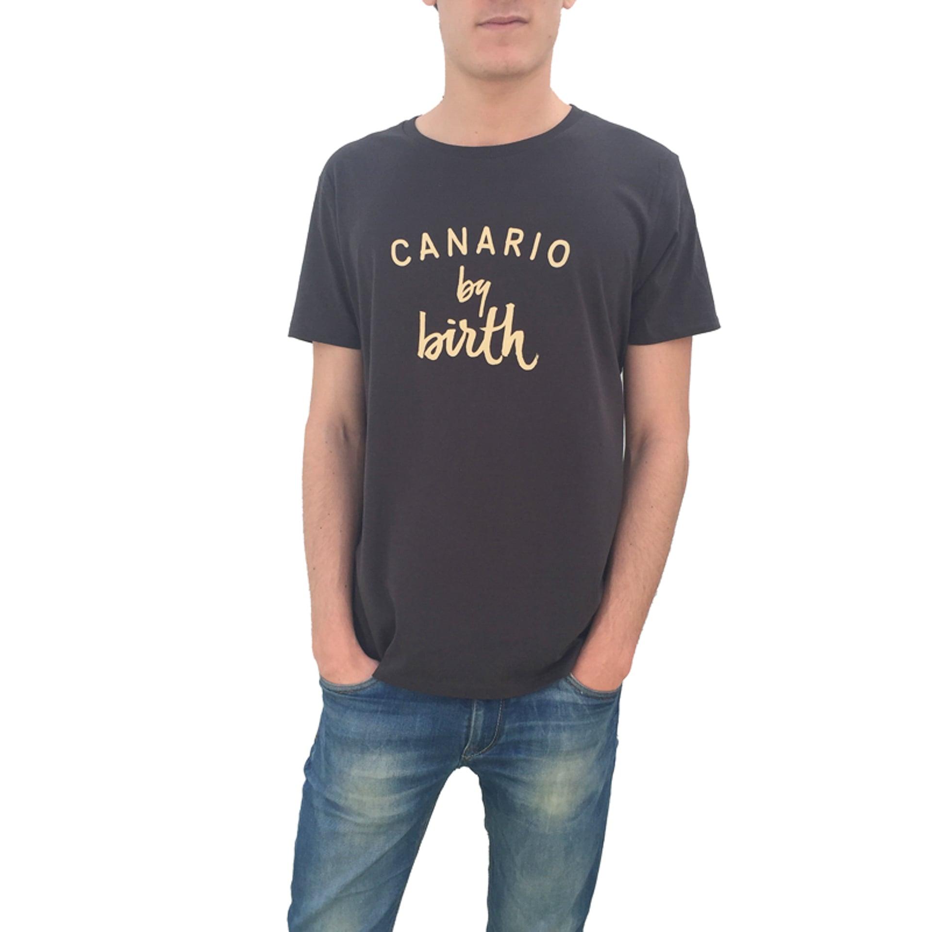 Canario_by_birth-man-black-model-tshirt