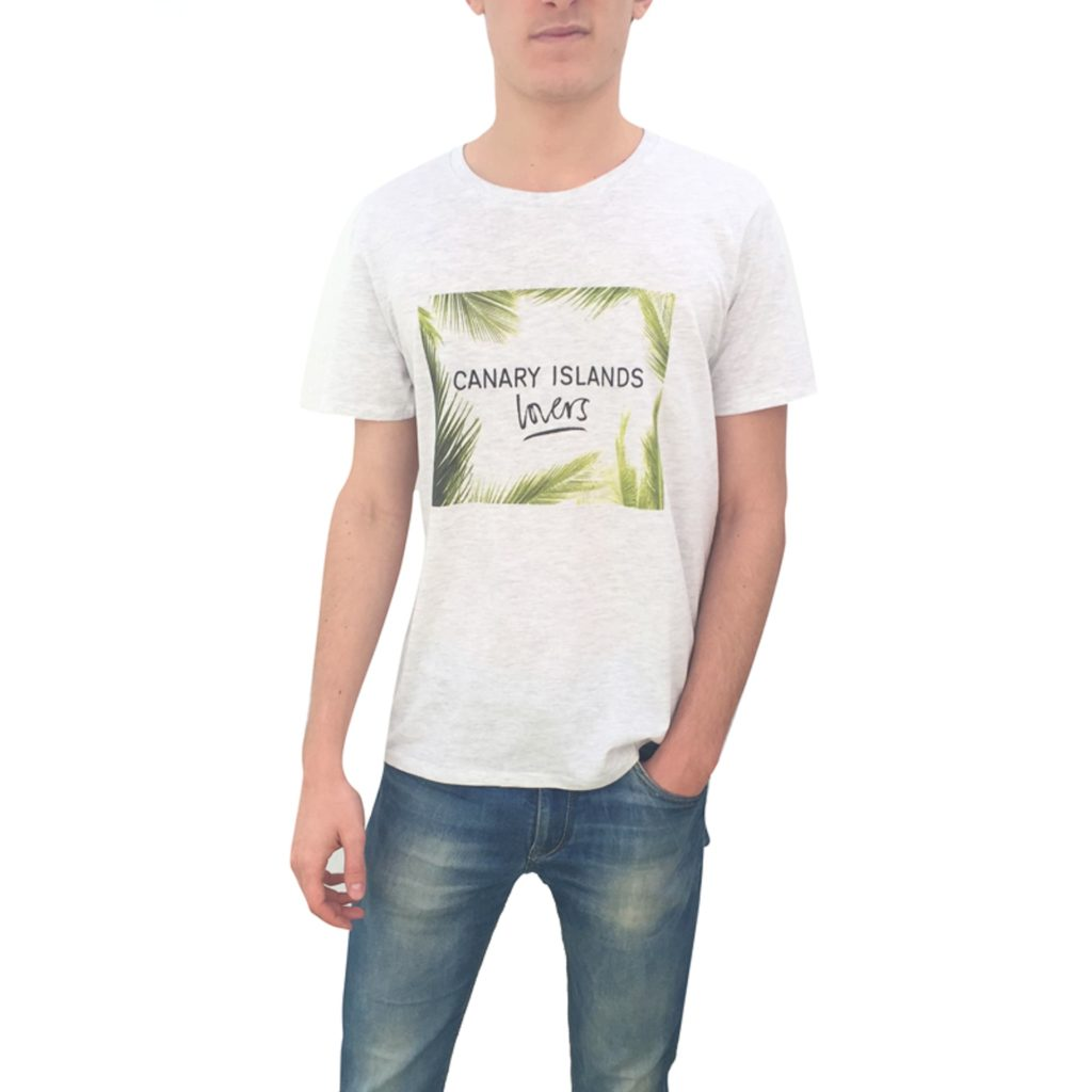 Canary Islands lovers hombre frontal camiseta
