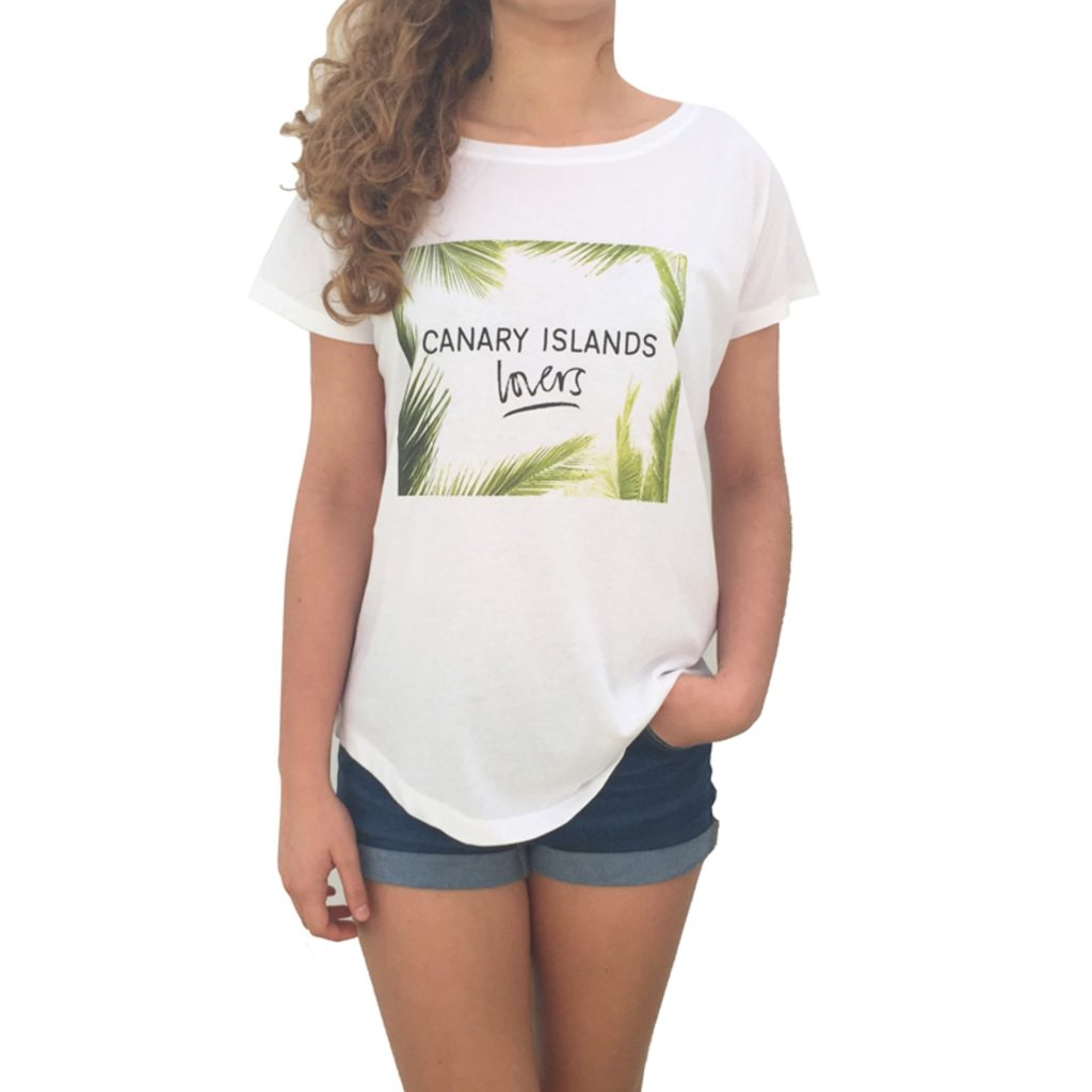 Canary Islands lovers frontal mujer camiseta