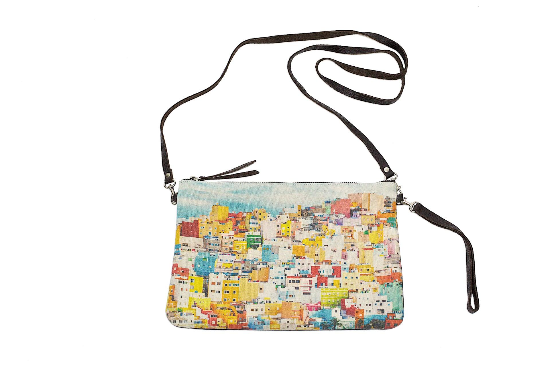 Colourful houses of San Juan-frontal-handbag