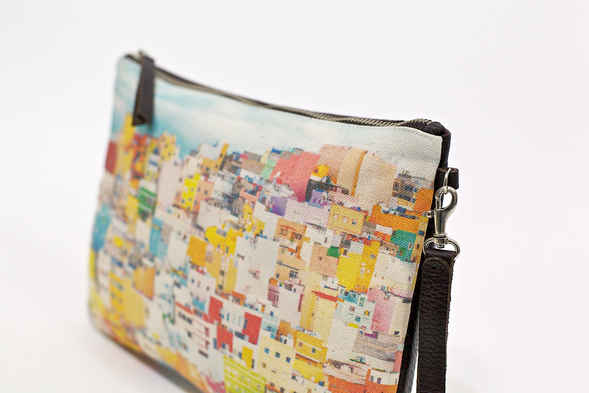 Colourful houses of San Juan-side-handbag