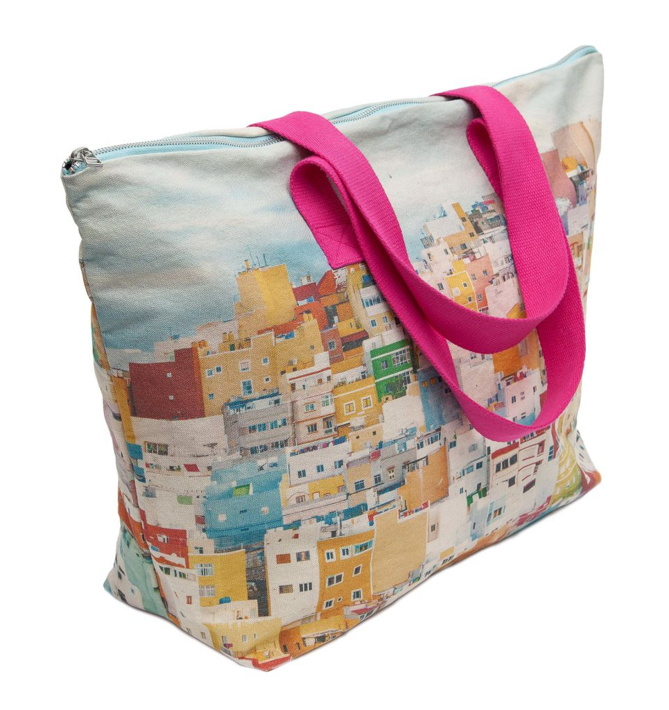 Casas de colores de San Juan lateral weekendbag