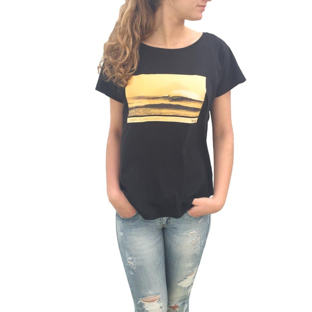 Ola en El Cotillo mujer camiseta