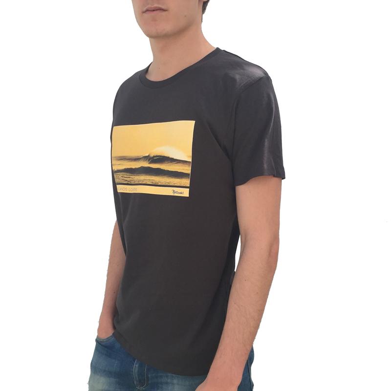 Ola en el Cotillo Fuerteventura Lateral Camiseta