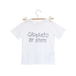 Canario by birth frontal ni o camiseta cor